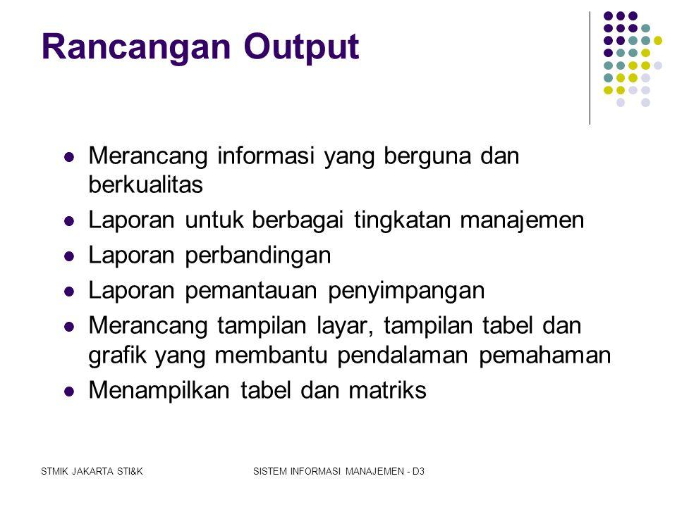 STMIK JAKARTA STI&KSISTEM INFORMASI MANAJEMEN - D3 3 Kategori Yang Memudahkan Dalam Perancangan Sistem 1. Global Based Systems. merancang sistem sedem