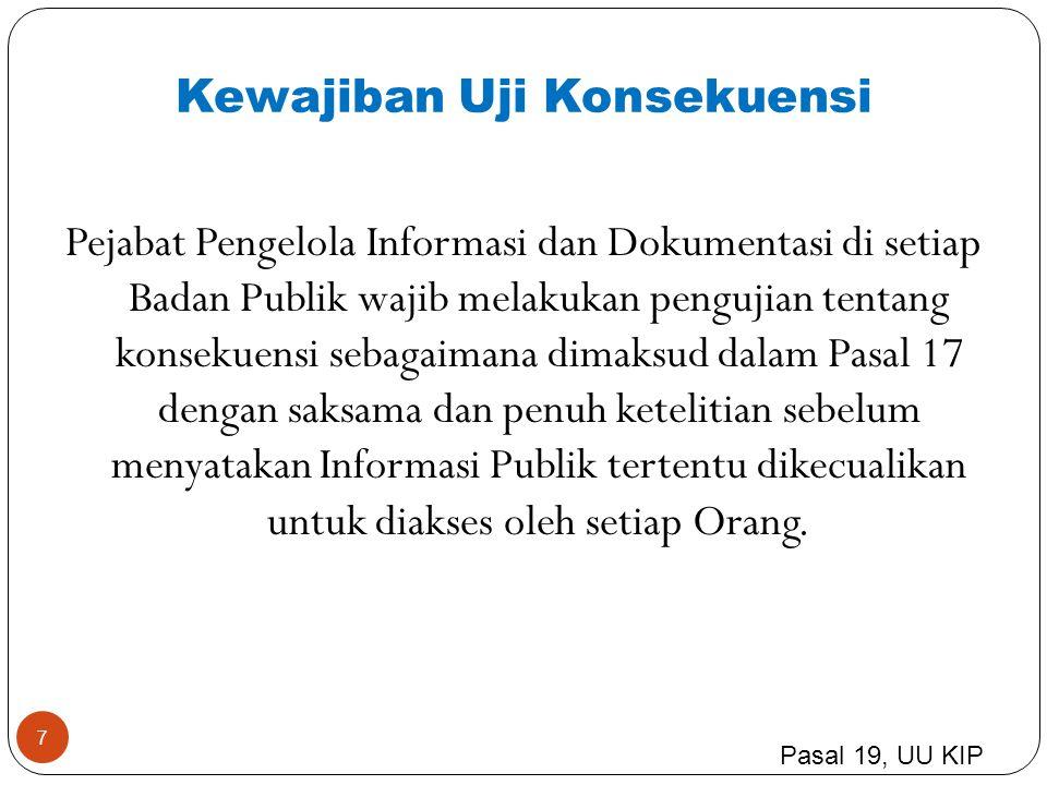 8 adalah pejabat yang merupakan atasan langsung PPID Atasan PPID wajib memberikan tanggapan dalam bentuk keputusan tertulis yang disampaikan kepada Pemohon Informasi Publik yang mengajukan keberatan.