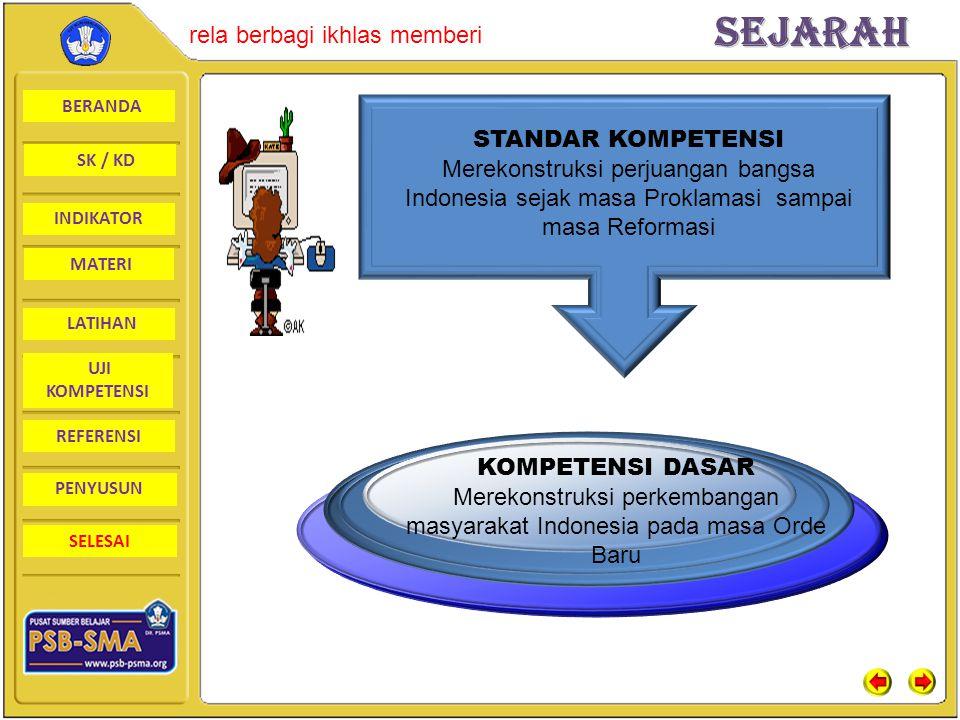 BERANDA SK / KD INDIKATORSejarah rela berbagi ikhlas memberi MATERI LATIHAN UJI KOMPETENSI REFERENSI PENYUSUN SELESAI Perkembangan Masyarakat Indonesi