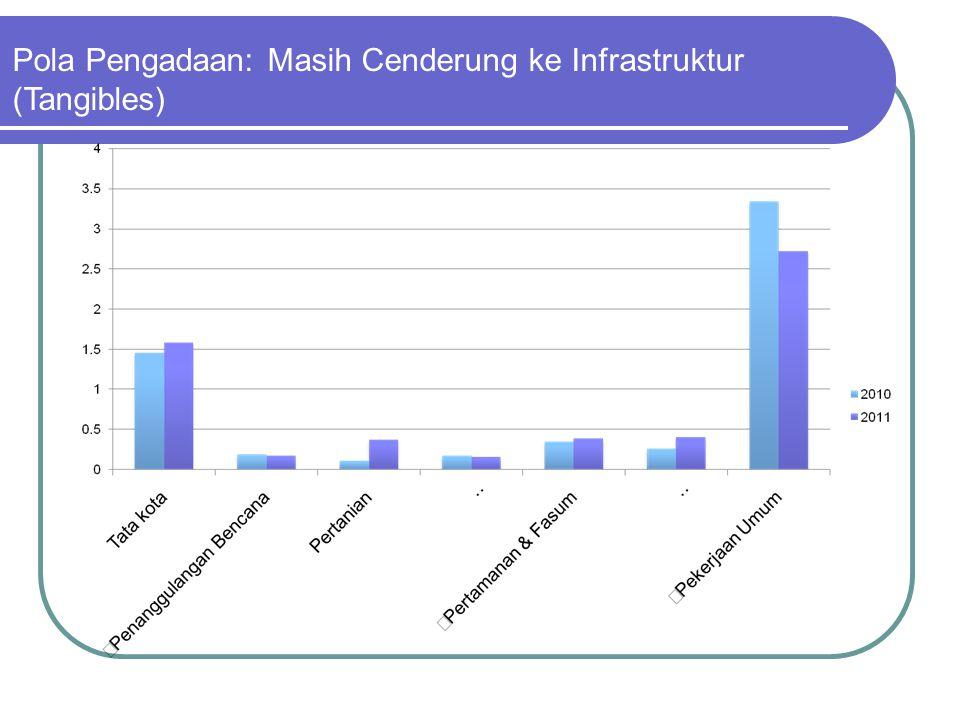 Pola Pengadaan: Masih Cenderung ke Infrastruktur (Tangibles)