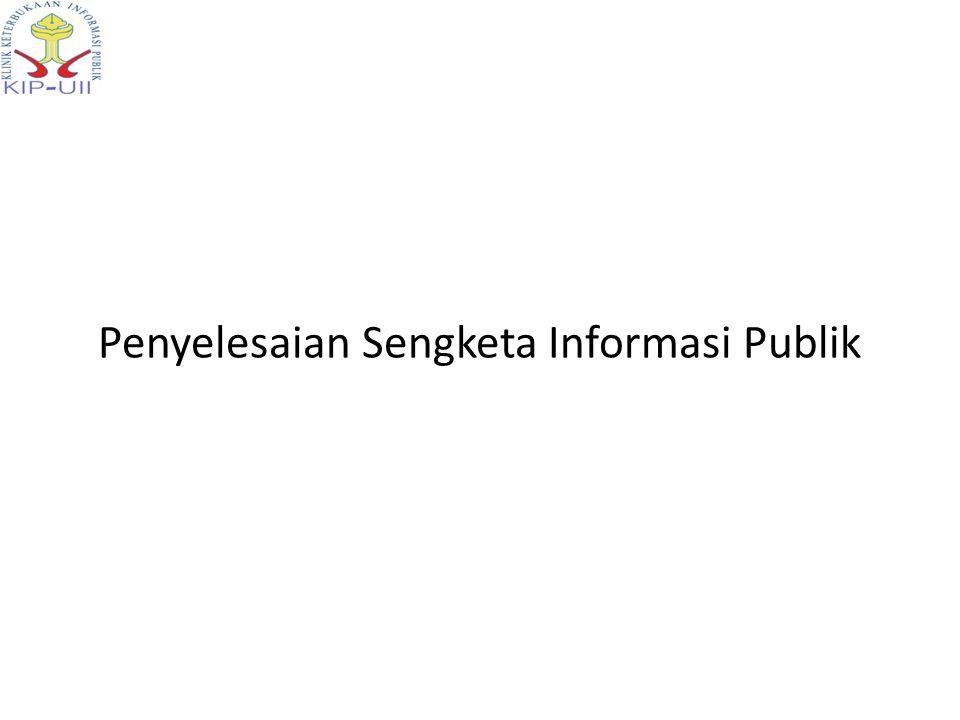 PENGAJUAN PERMOHONAN INFORMASI JAWABAN (10 + 7) PEMOHONBADAN PUBLIK