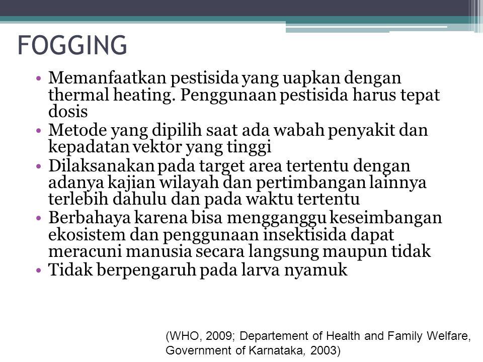 Pengetahuan tentang Bahaya Fogging No Pertanyaan Kuisioner Pengetahuan Tentang Bahaya Fogging BenarSalahTotal n%n%n% 1.