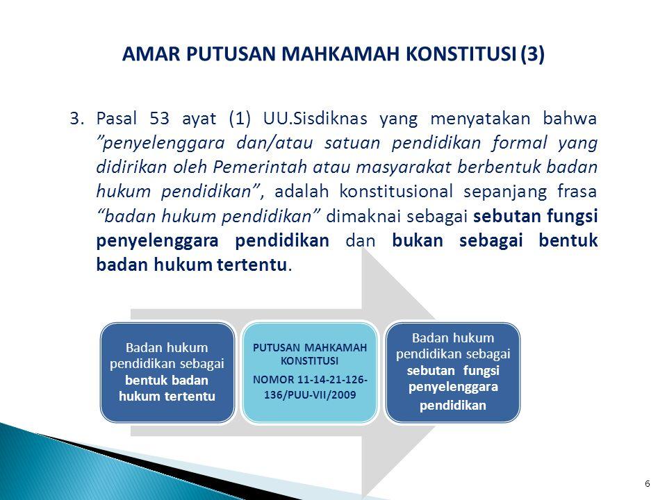 IMPLIKASI PUTUSAN MAHKAMAH KONSTITUSI (9) 8.