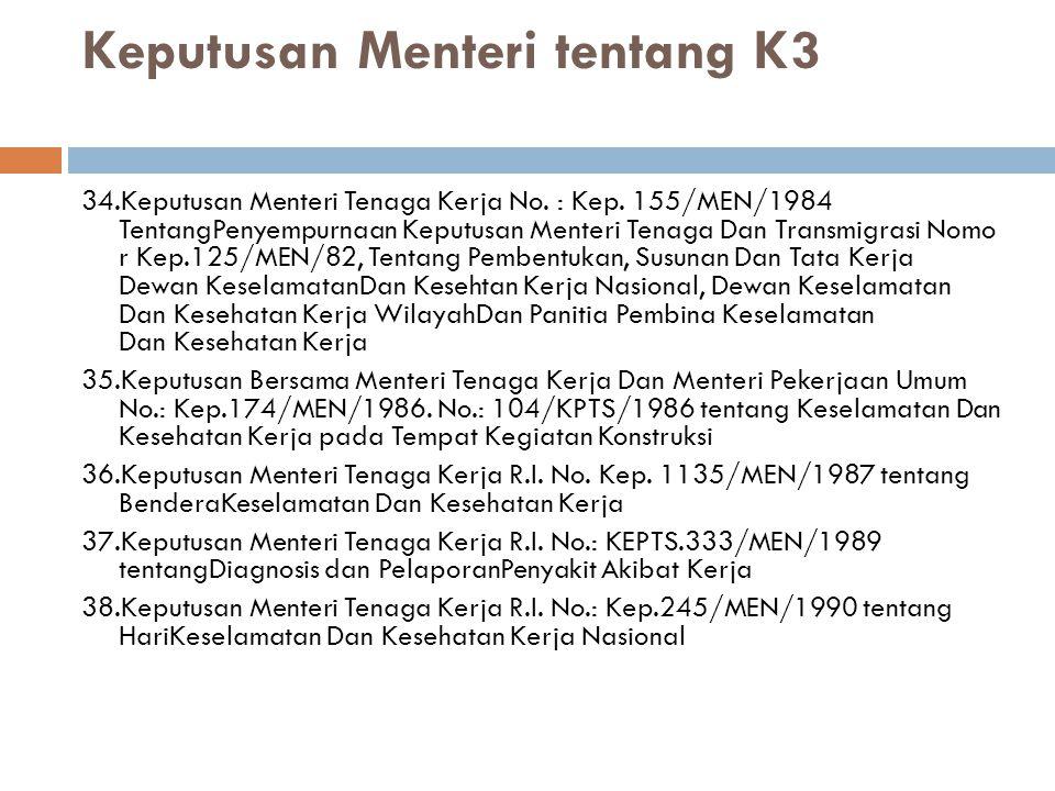 39.Keputusan Menteri Tenaga Kerja R.I..No.