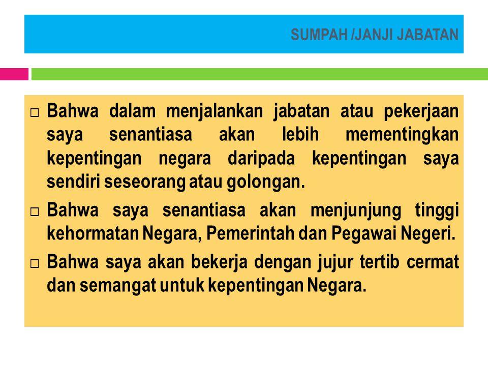 Susunan Acara  Lagu kebangsaan Indonesia Raya;  Pembacaan Keputusan;  Pengucapan sumpah/janji.