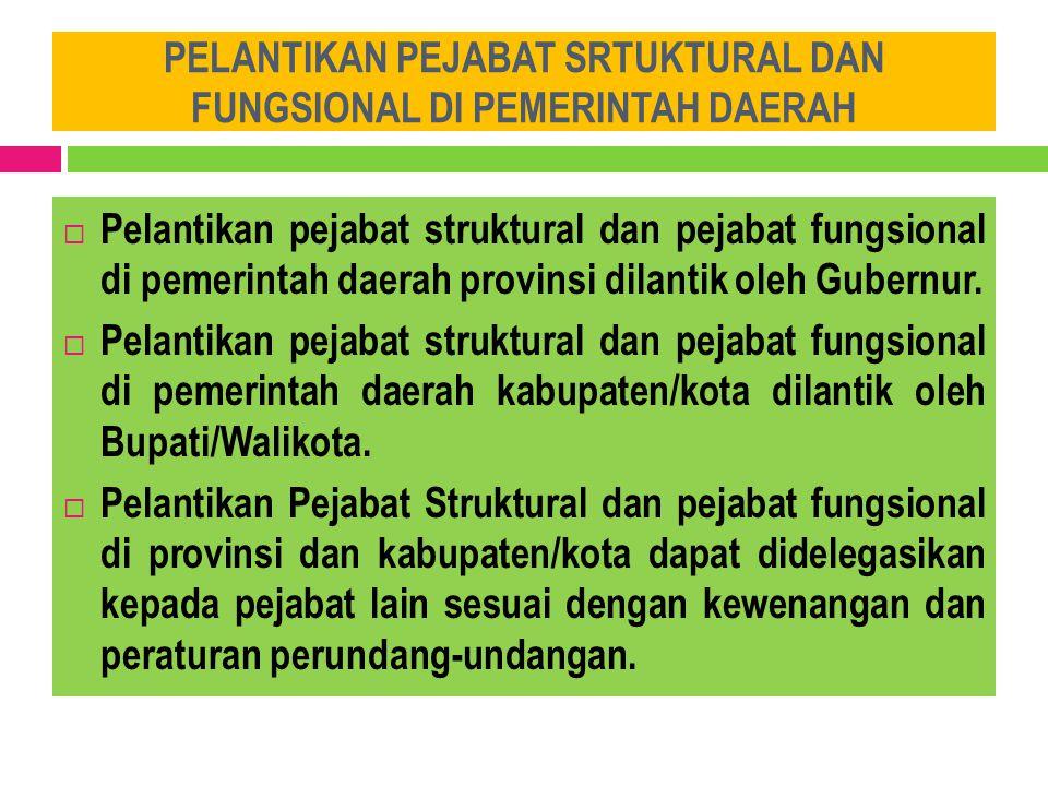 KELENGKAPAN UPACARA PELANTIKAN JABATAN PNS  Pelantikan pejabat struktural dan pejabat fungsional diselenggarakan dalam suatu upacara resmi.