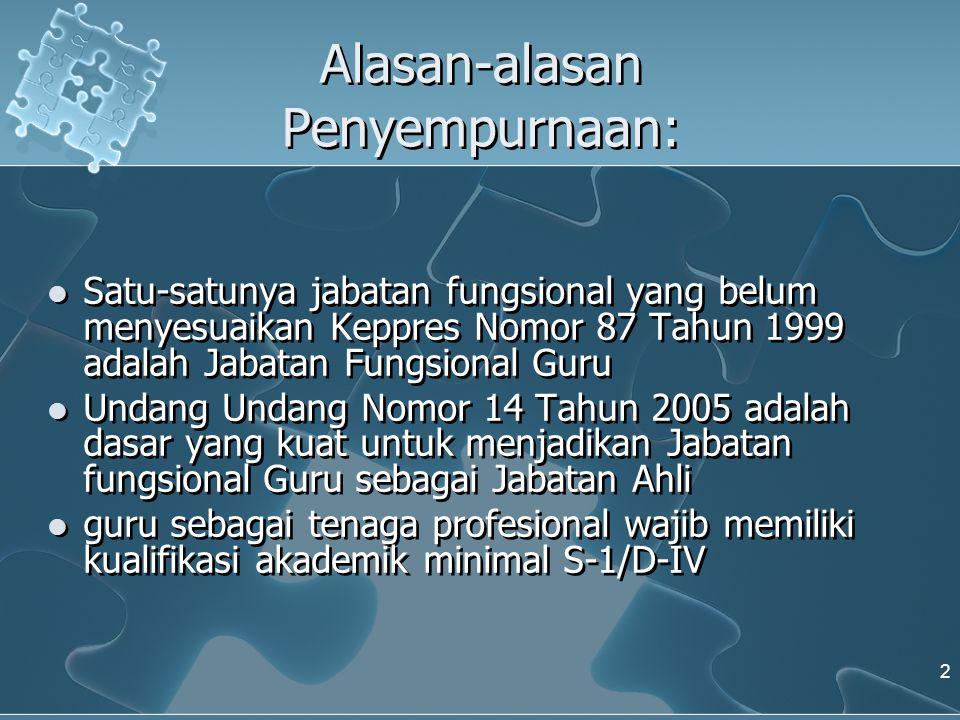 BAB IV INSTANSI PEMBINA DAN TUGAS INSTANSI PEMBINA Pasal 9  Instansi pembina jabatan fungsional Guru adalah Departemen Pendidikan Nasional.