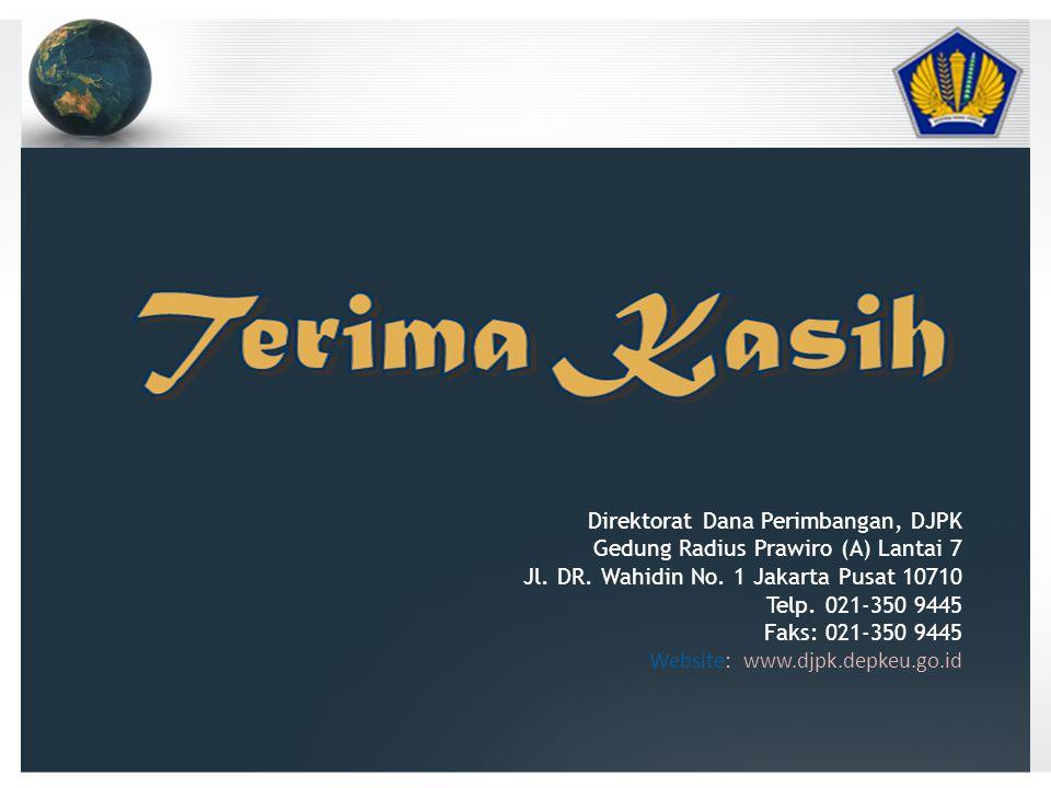 Direktorat Dana Perimbangan, DJPK Gedung Radius Prawiro (A) Lantai 7 Jl.