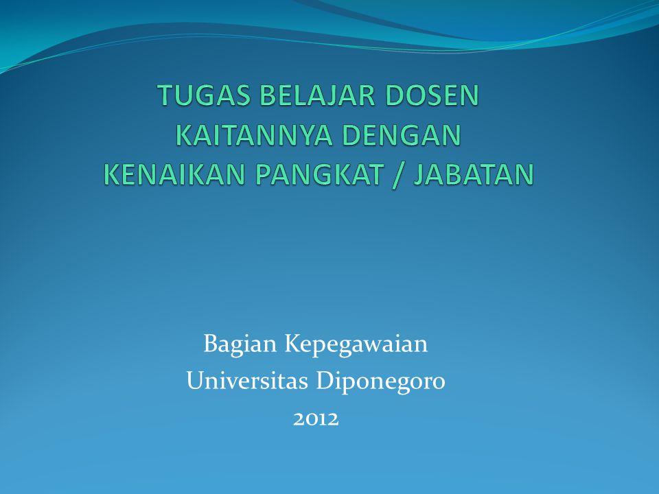 Bagian Kepegawaian Universitas Diponegoro 2012