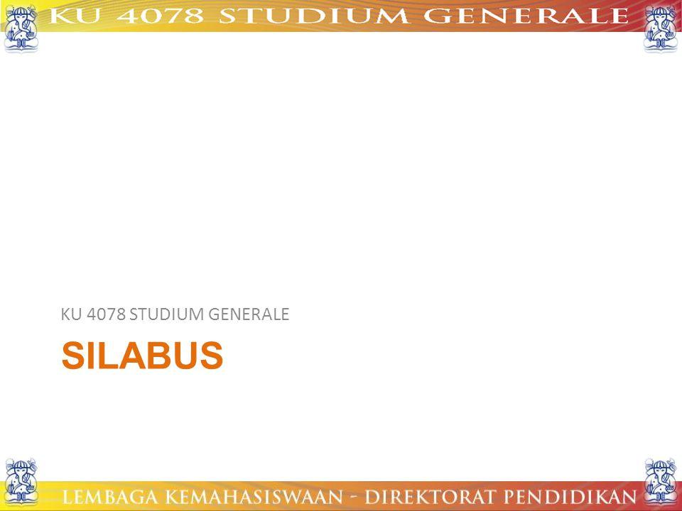 SILABUS KU 4078 STUDIUM GENERALE