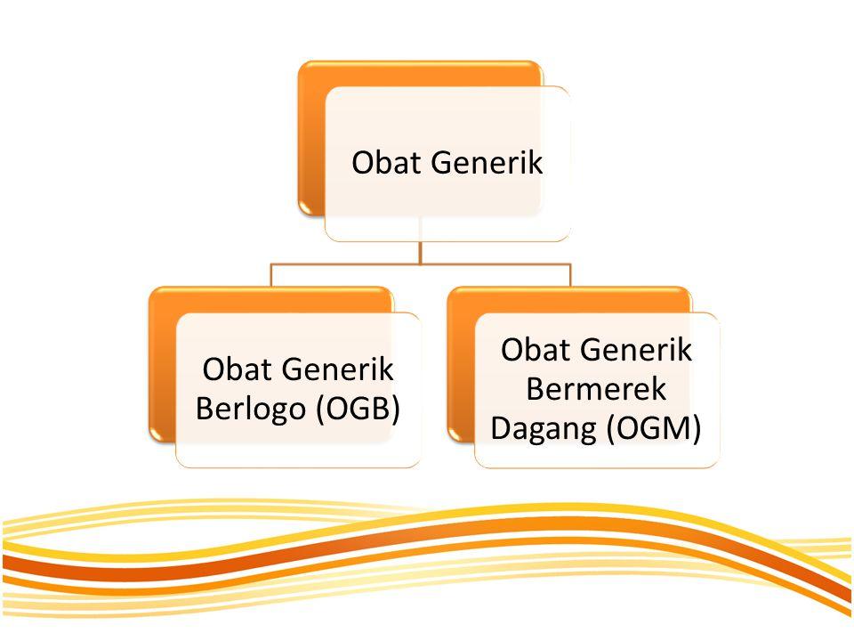 Obat Generik Obat Generik Berlogo (OGB) Obat Generik Bermerek Dagang (OGM)