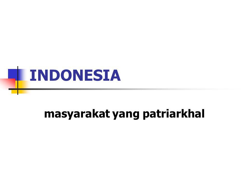 INDONESIA masyarakat yang patriarkhal