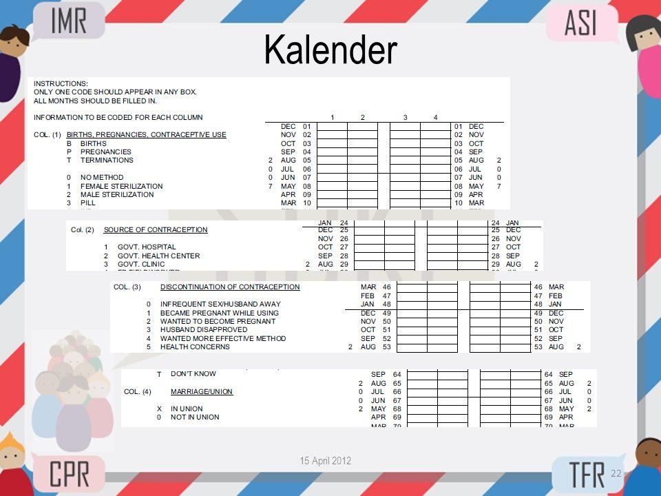 Kalender 15 April 2012 22