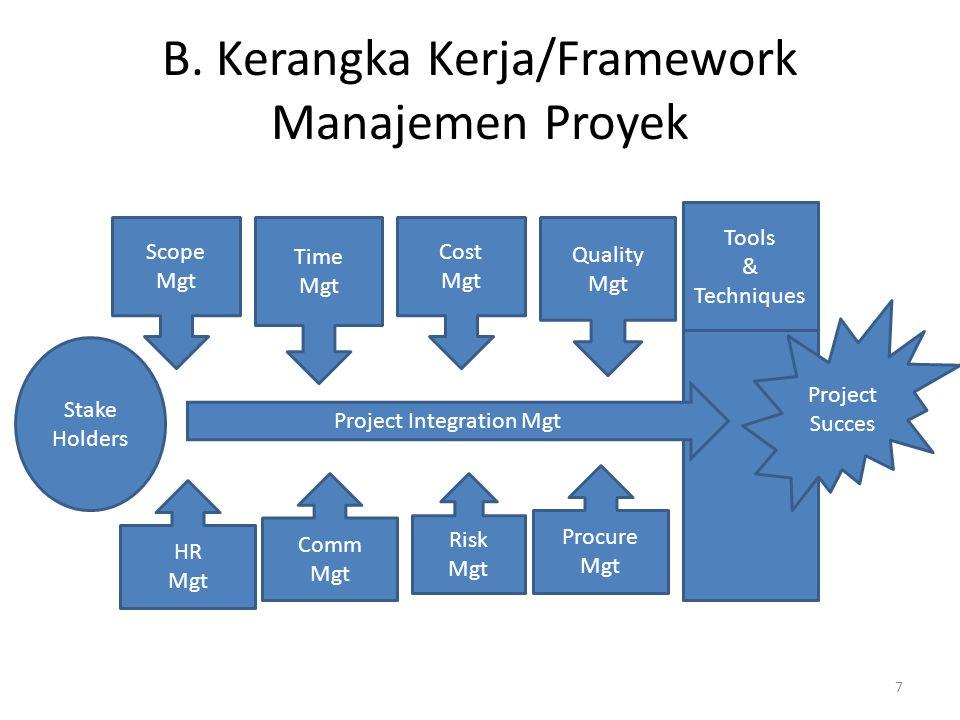 • Program adalah sekelompok proyek yang dikelola dengan cara koordinasi untuk mendapatkan keuntungan yang tidak didapatkan dari pengelolaannya secara individu.