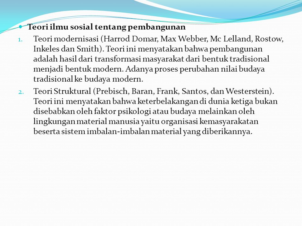 TEORI TENTANG PERTANIAN DI INDONESIA  Teori Dualisme 1.