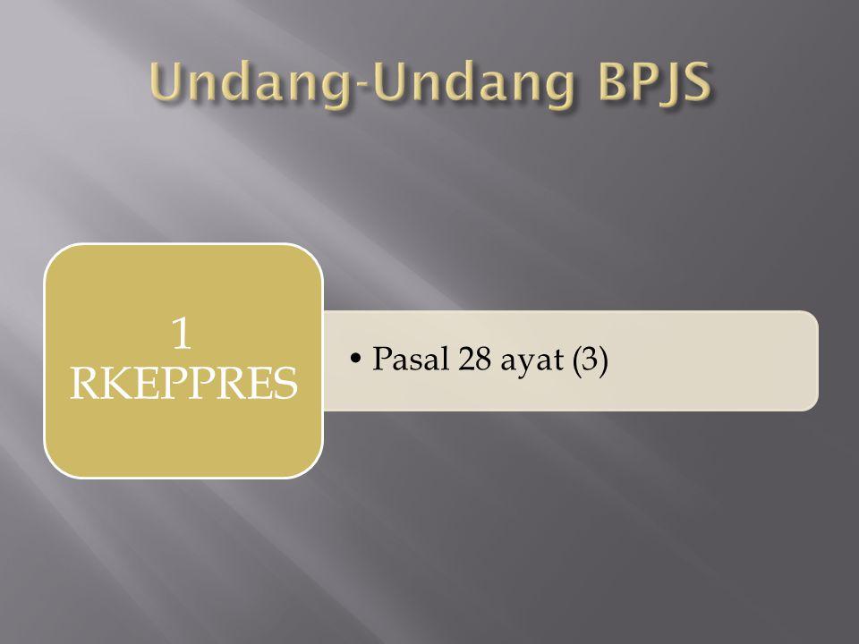 •Pasal 28 ayat (3) 1 RKEPPRES