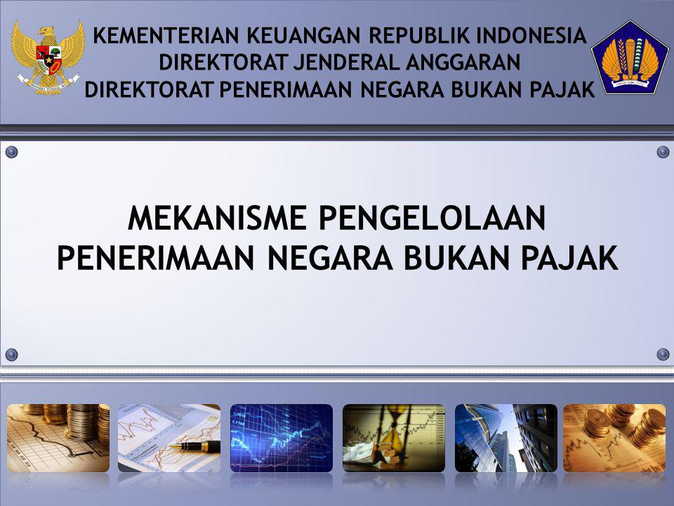 MEKANISME PENGELOLAAN PENERIMAAN NEGARA BUKAN PAJAK KEMENTERIAN KEUANGAN REPUBLIK INDONESIA DIREKTORAT JENDERAL ANGGARAN DIREKTORAT PENERIMAAN NEGARA BUKAN PAJAK