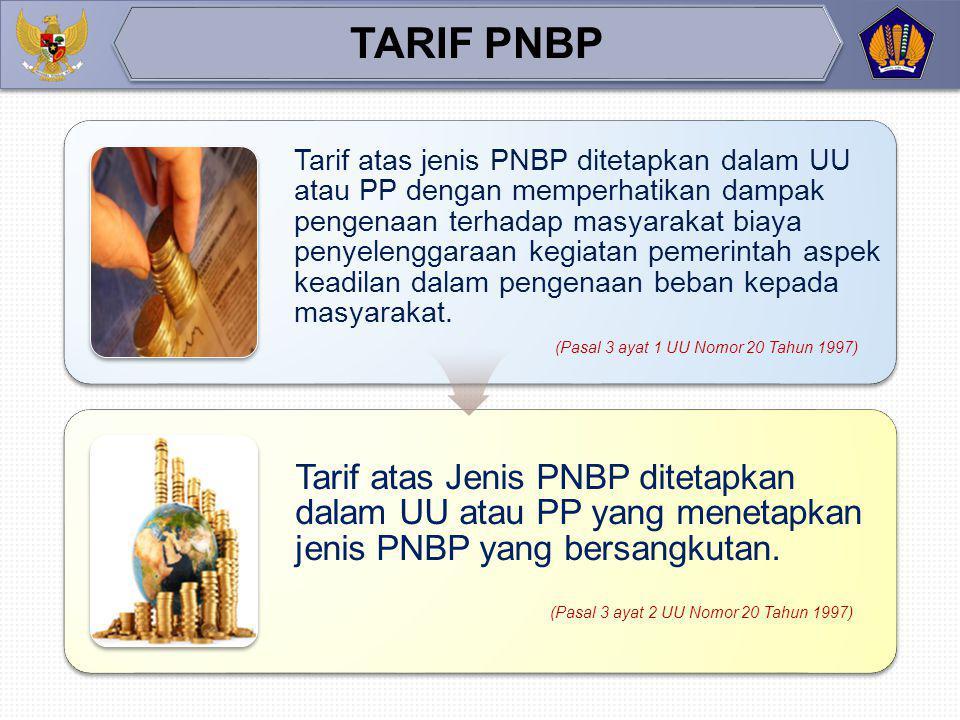 Penerimaan Negara Bukan Pajak adalah seluruh penerimaan pemerintah pusat yang tidak berasal dari perpajakan (Pasal 1 angka 1 UU No 20 Tahun 1997) PENG
