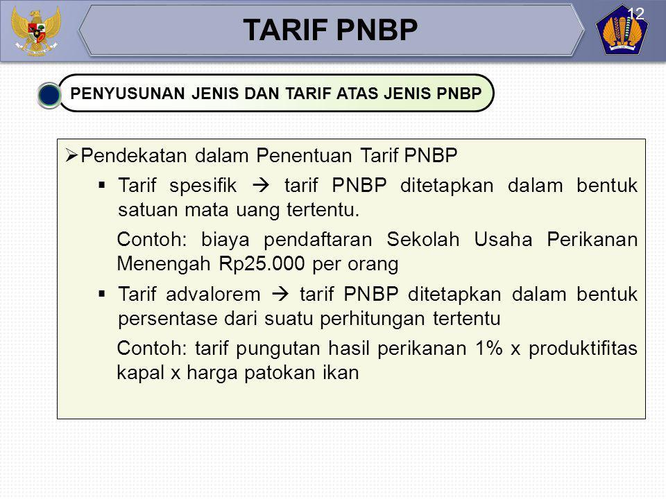  Hal-hal yang harus diperhatikan dalam penyusunan RPP jenis dan tarif atas jenis PNBP  Jenis kegiatan atau pelayanan yang menghasilkan PNBP merupaka