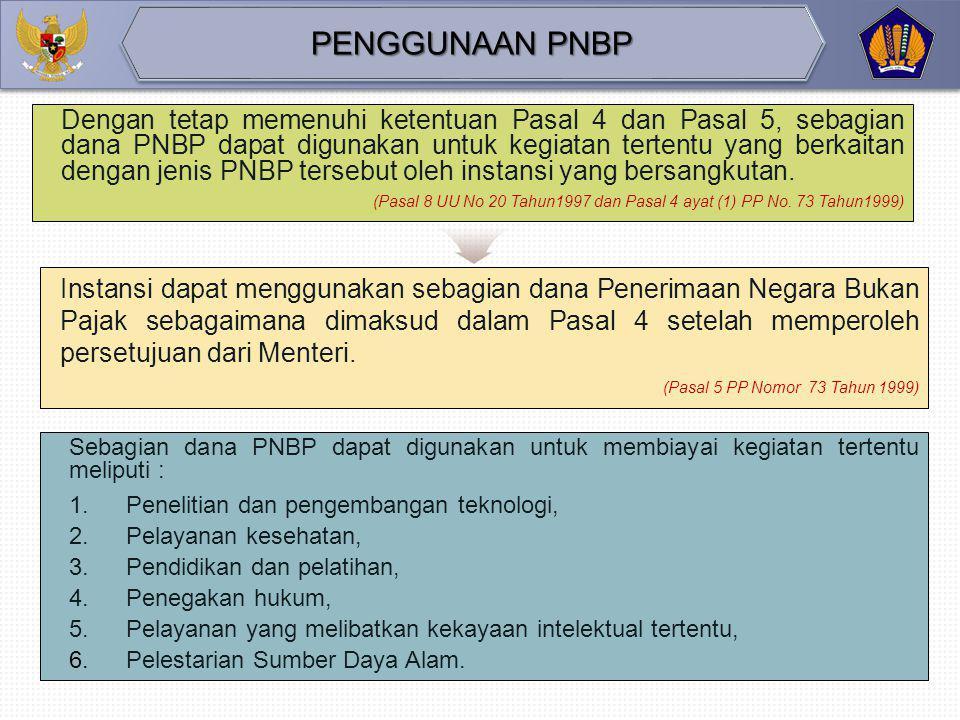 22 Berdasarkan target (rencana) PNBP dari Kementerian/Lembaga, Direktorat PNBP menetapkan pagu penggunaan PNBP dengan formula sebagai berikut : TARGET
