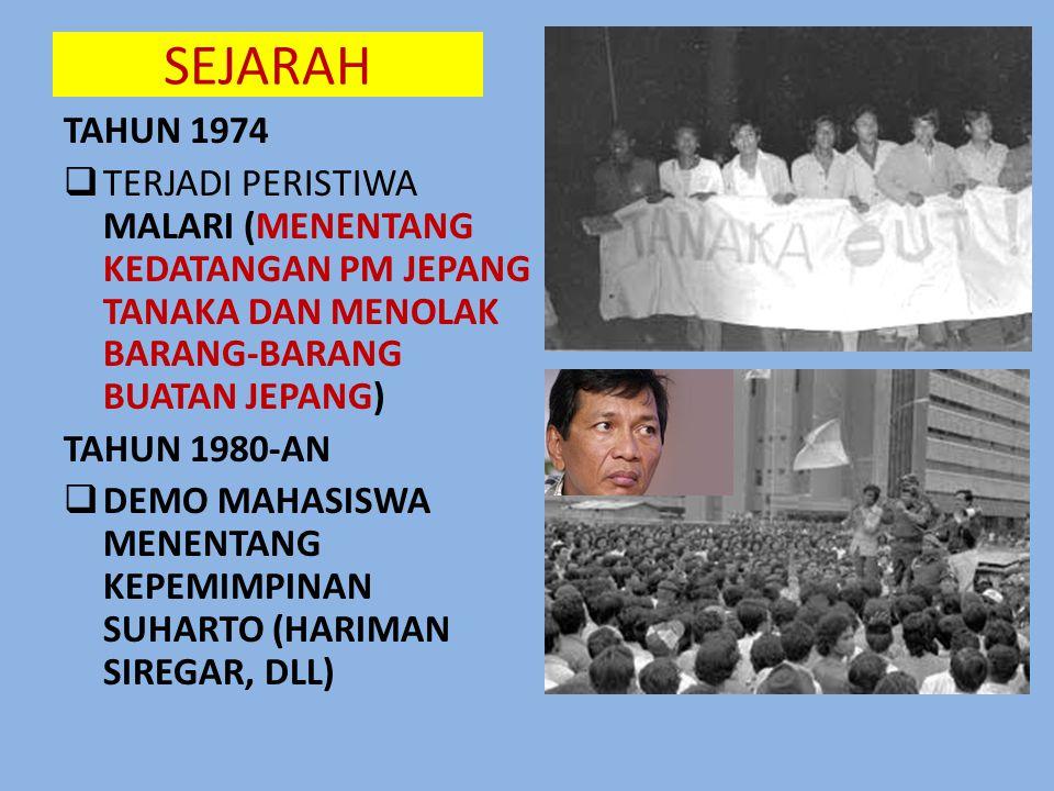 SEJARAH • TAHUN 1966  ORDE BARU SEBAGAI ORDE PEMBANGUNAN  DITETAPKANNYA TAP MPR NO. II/MPR/1978 TENTANG P4  DITETAPKANNYA PANCASILA SEBAGAI SATU-SA