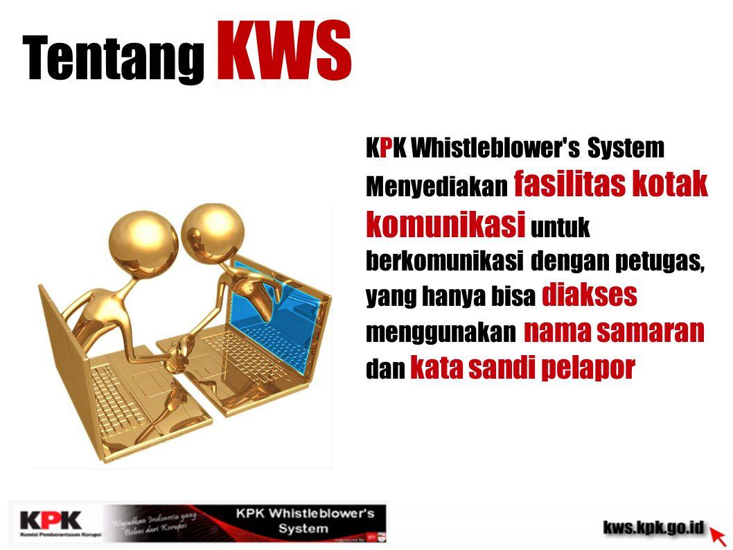 KPK Whistleblower s System dapat diakses 24 jam setiap hari Tentang KWS