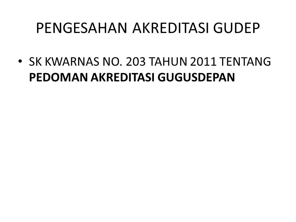 PENGESAHAN AKREDITASI GUDEP • SK KWARNAS NO. 203 TAHUN 2011 TENTANG PEDOMAN AKREDITASI GUGUSDEPAN