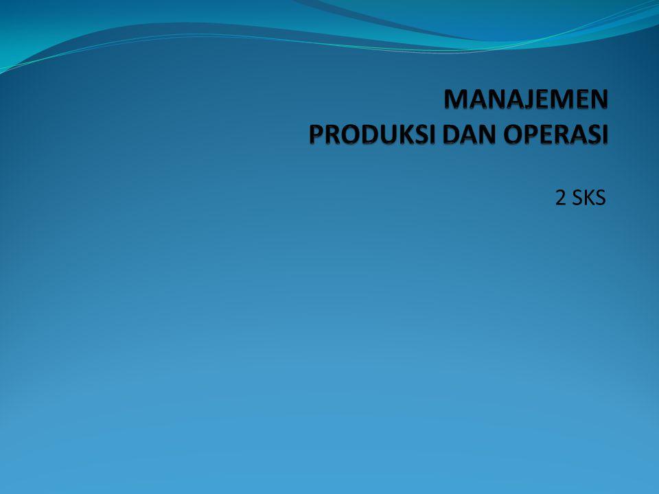 1.Konsep dasar operasi dan produktivitas 2. Strategi Operasi 3.