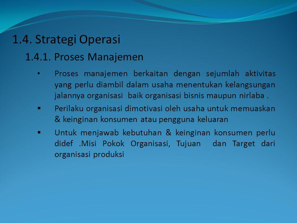 • Proses manajemen berkaitan dengan sejumlah aktivitas yang perlu diambil dalam usaha menentukan kelangsungan jalannya organisasi baik organisasi bisn