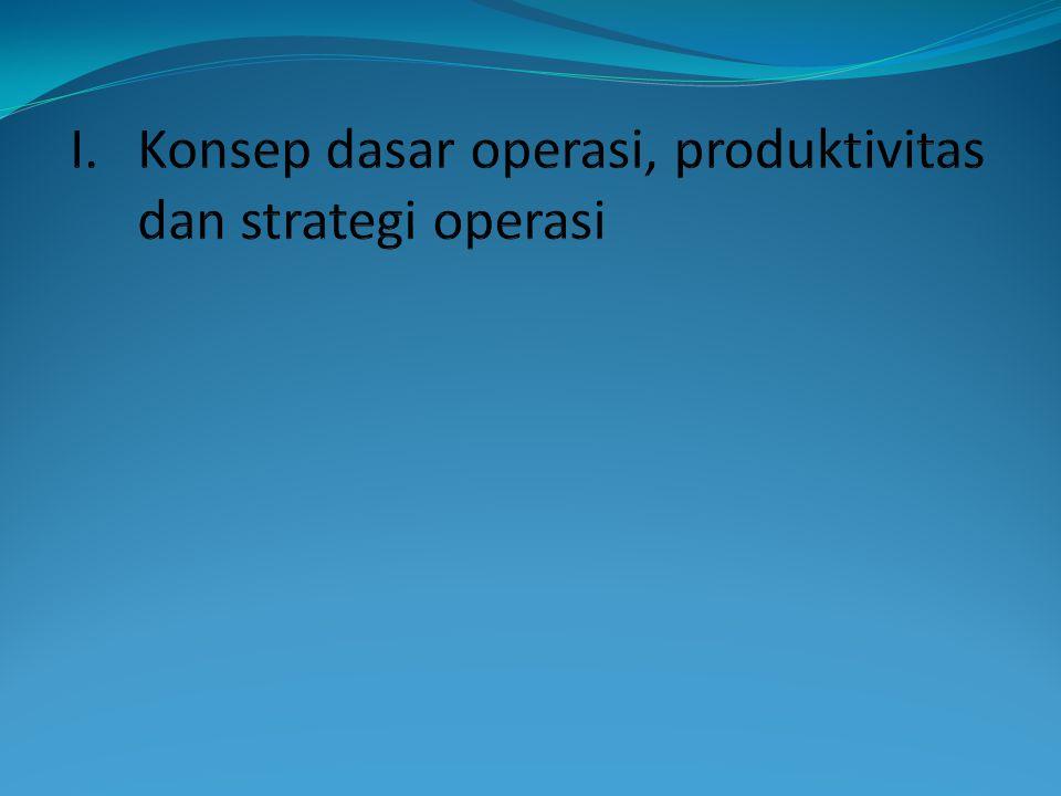 Bagian dari strategi perusahaan  Acuan dalam kegiatan produksi dan pelayanan kepada pelanggan guna mewujudkan tujuan perusahaan dan menciptakan kepuasan pelanggan