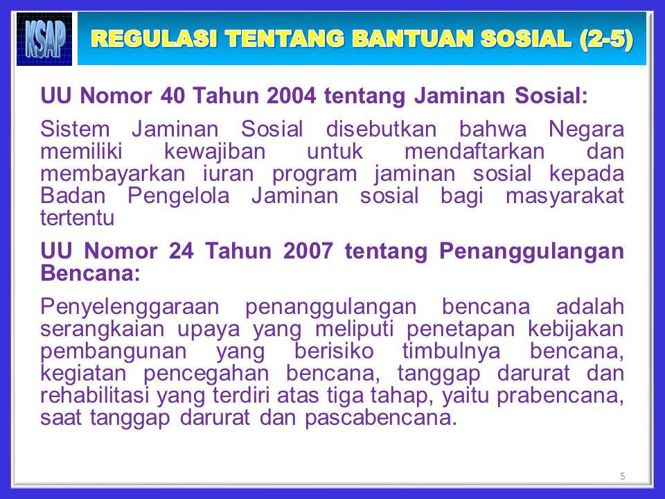 PP 90/2010 tentang Penyusunan RKA KL: Definisi Belanja Bansos yaitu transfer uang atau barang kepada masyarakat guna melindungi dari kemungkinan terjadinya risiko sosial.