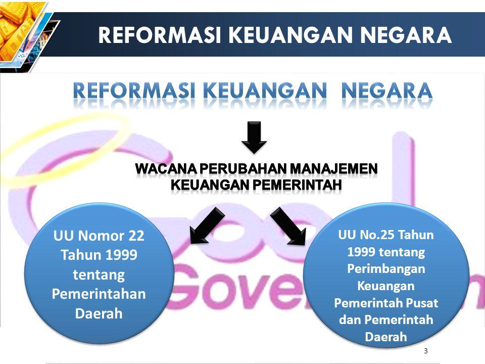 3 UU Nomor 22 Tahun 1999 tentang Pemerintahan Daerah UU No.25 Tahun 1999 tentang Perimbangan Keuangan Pemerintah Pusat dan Pemerintah Daerah