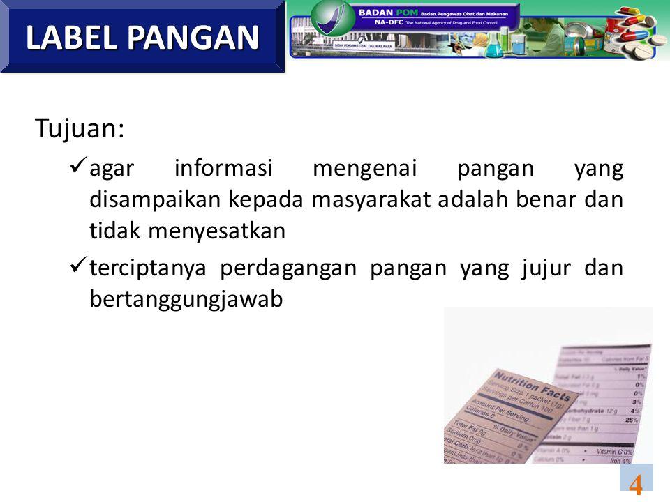 1.UU No.7 Tahun 1996 tentang Pangan 2.PP No. 69 Tahun 1999 tentang Label dan Iklan Pangan.