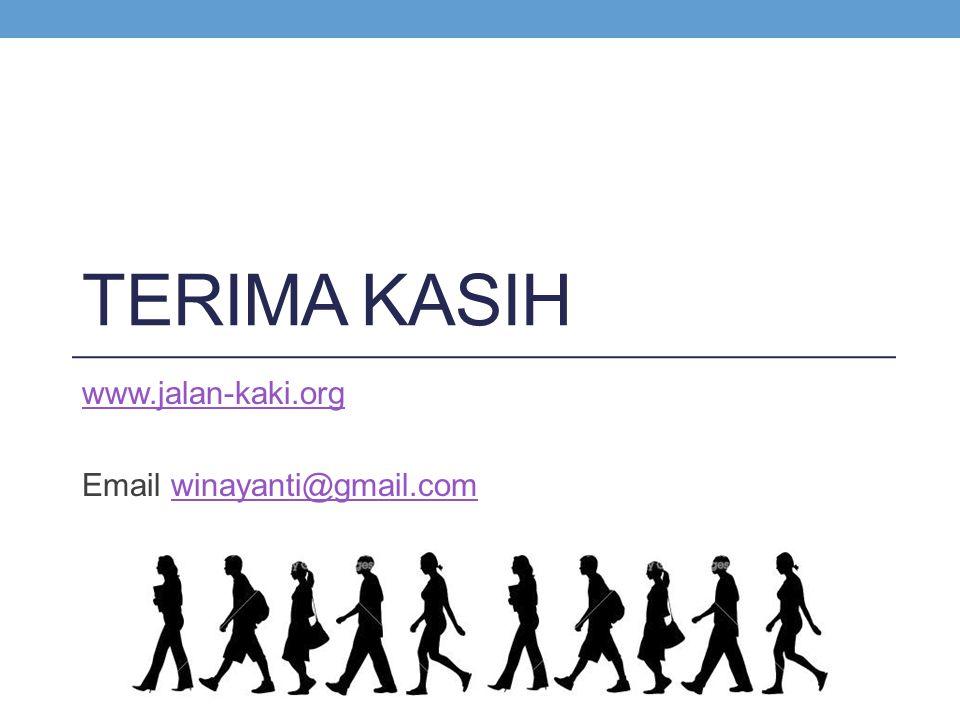 TERIMA KASIH www.jalan-kaki.org Email winayanti@gmail.comwinayanti@gmail.com