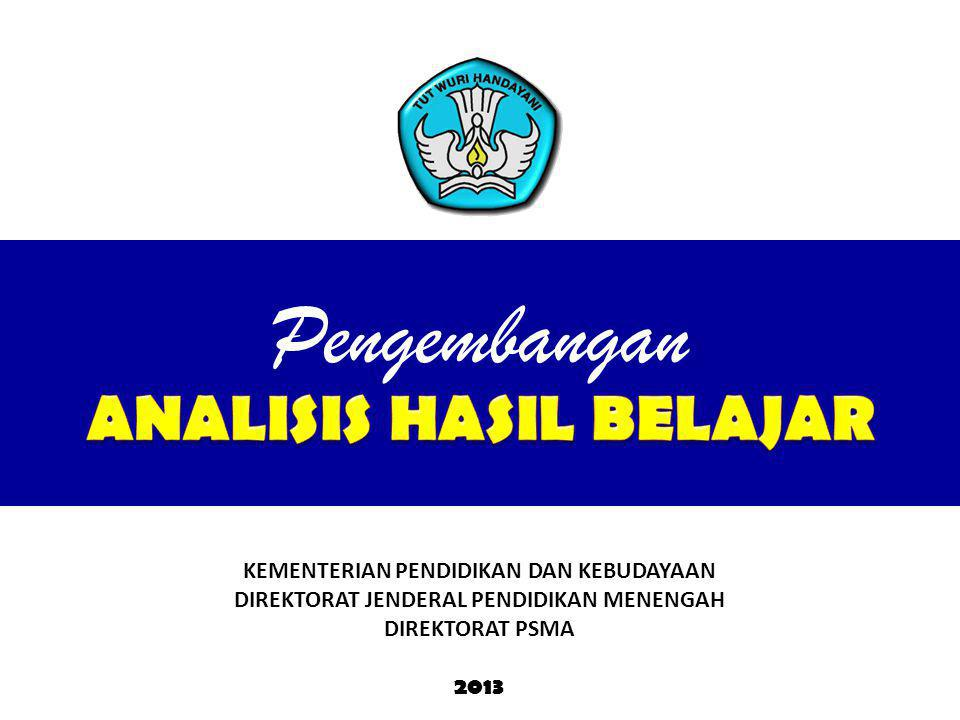 KEMENTERIAN PENDIDIKAN DAN KEBUDAYAAN DIREKTORAT JENDERAL PENDIDIKAN MENENGAH DIREKTORAT PSMA 2013 Pengembangan