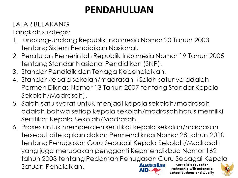 13 Australia's Education Partnership with Indonesia School Systems and Quality Manfaat 1.Bagi Peserta Didik 2.Bagi Guru 3.Bagi Kepala Sekolah/Madrasah 4.Bagi Orang Tua/Masyarakat 5.Bagi Pengawas Sekolah/madrasah.