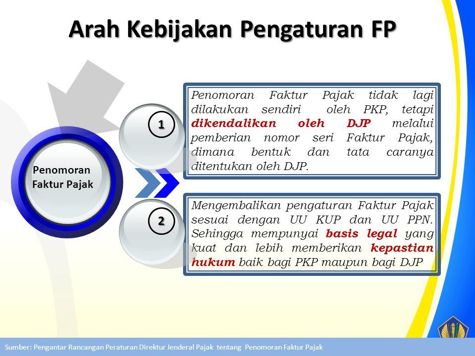 Penomoran Faktur Pajak Penomoran Faktur Pajak tidak lagi dilakukan sendiri oleh PKP, tetapi dikendalikan oleh DJP melalui pemberian nomor seri Faktur
