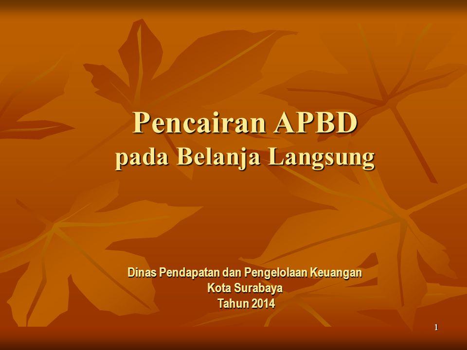 1 Pencairan APBD pada Belanja Langsung Dinas Pendapatan dan Pengelolaan Keuangan Kota Surabaya Tahun 2014