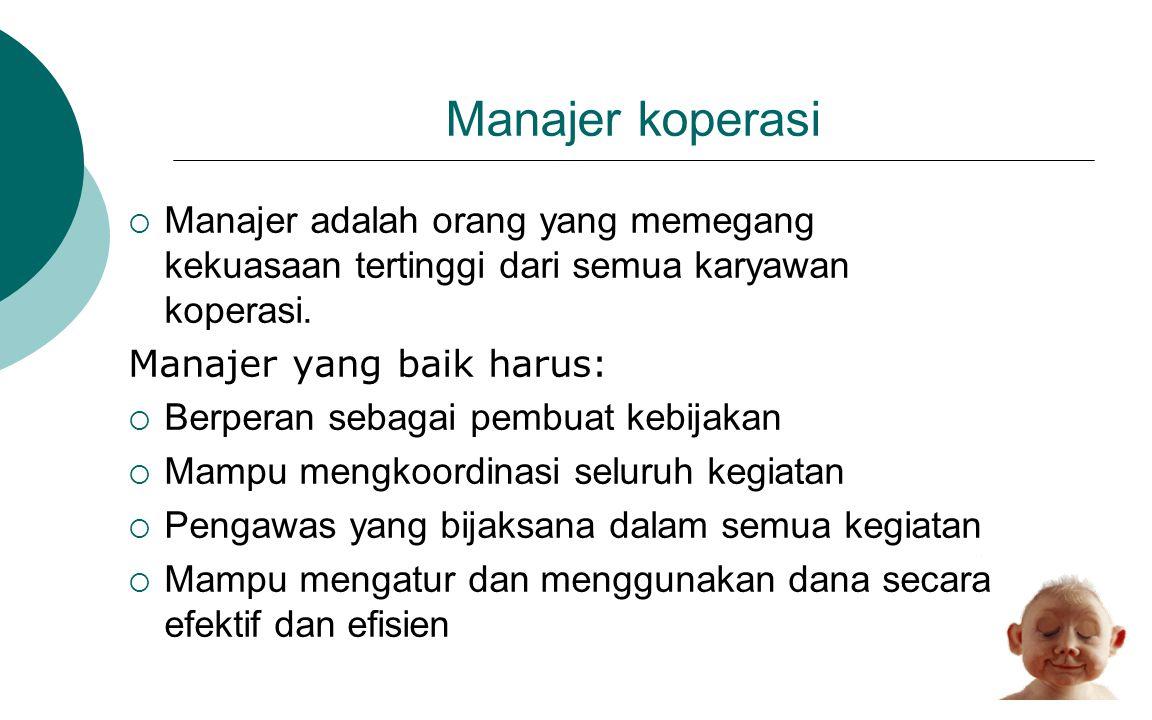 Bidang yang ditangani/dikelola Manajer •Personali a 1 •Pengelol a Usaha 2 •Perencan aa 3 •4Adminis trasi 4 •Pengwas an 5