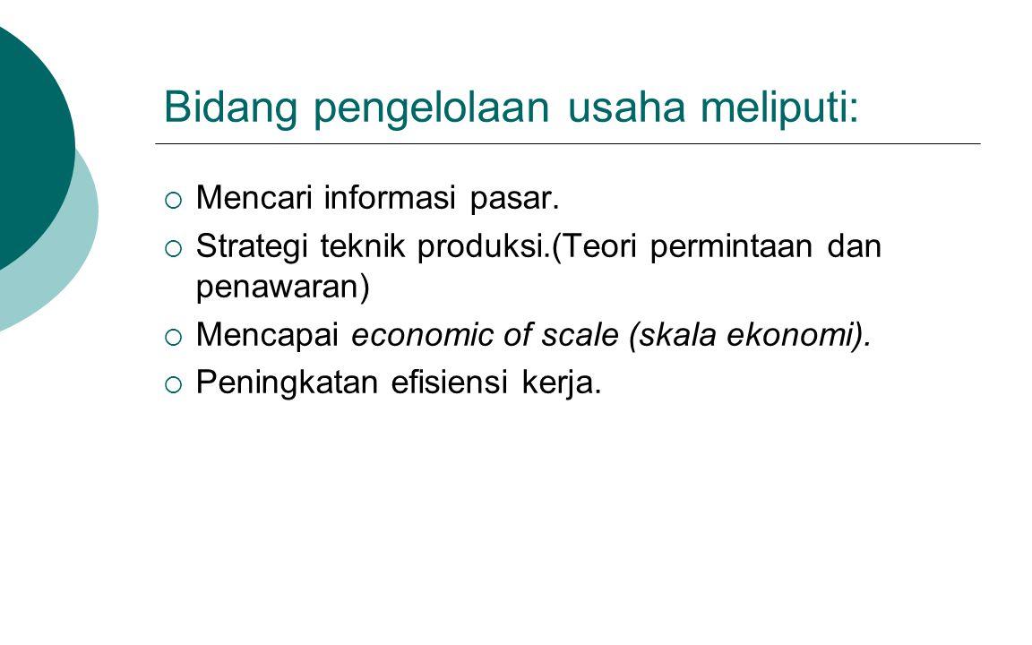 Bidang administrasi meliputi:  Pembuatan laporan keuangan  Pembuatan laporan arus keluar masuk barang