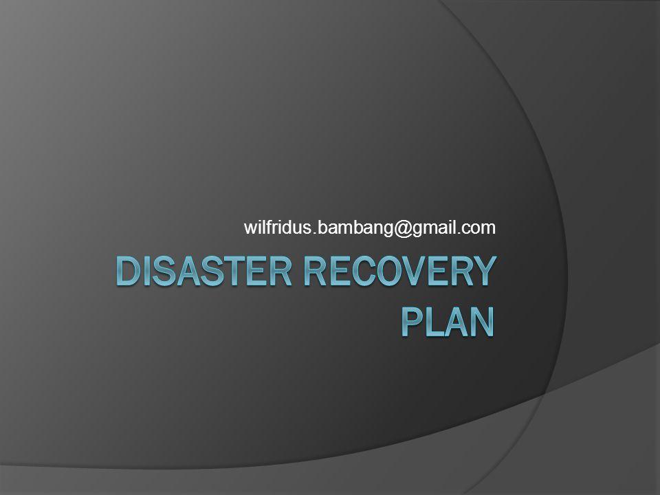 Bahasan  Latar Belakang  Sekilas tentang BCP  Pengertian DRP  Definisi Bencana  Contoh Strategi  Solusi DRP  Pemilihan Lokasi DRP  Pemeliharaan & Pengujian DRP  Referensi
