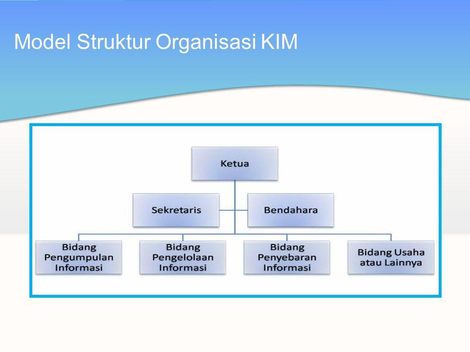 Model Struktur Organisasi KIM