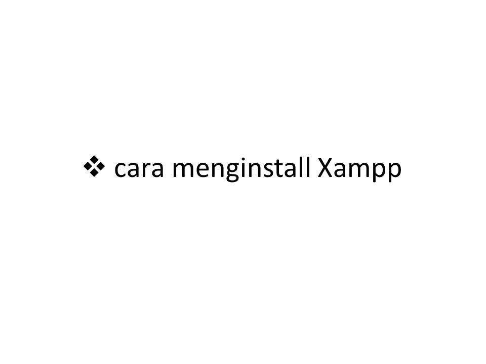 Cari aplikasi setup xampp.