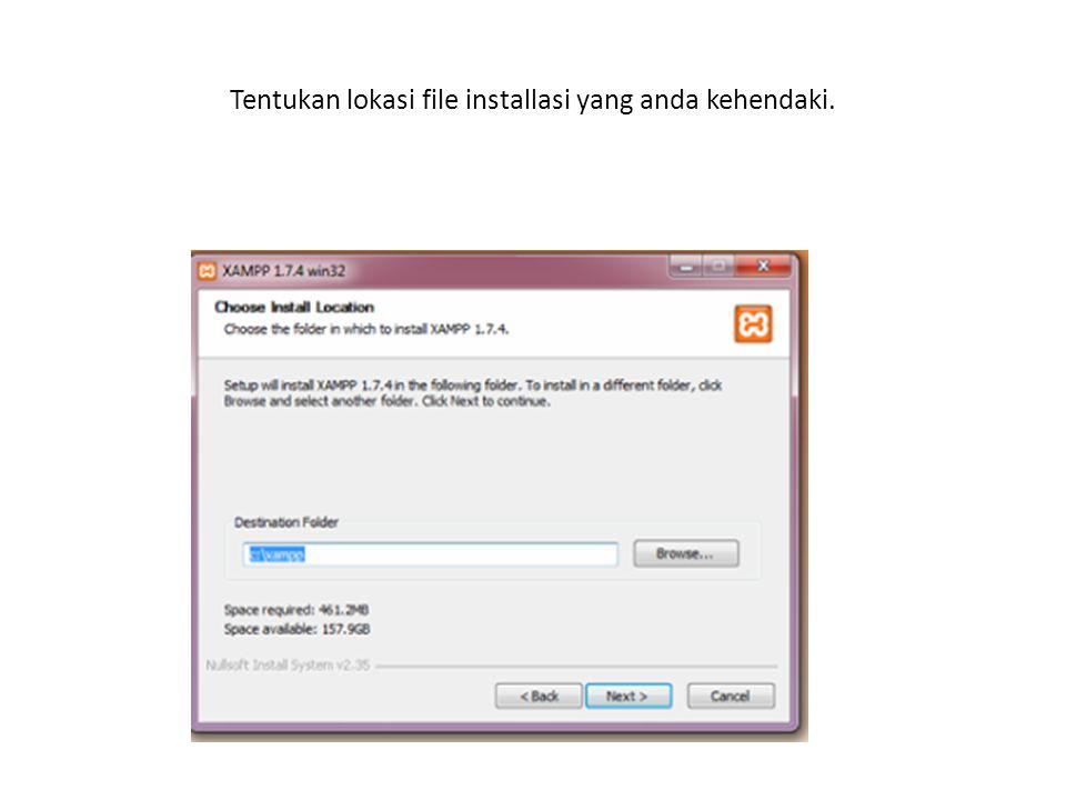 Centang semua kotak yang belum dicentang, lalu klik tomblo install untuk melajutkan proses penginstallan.