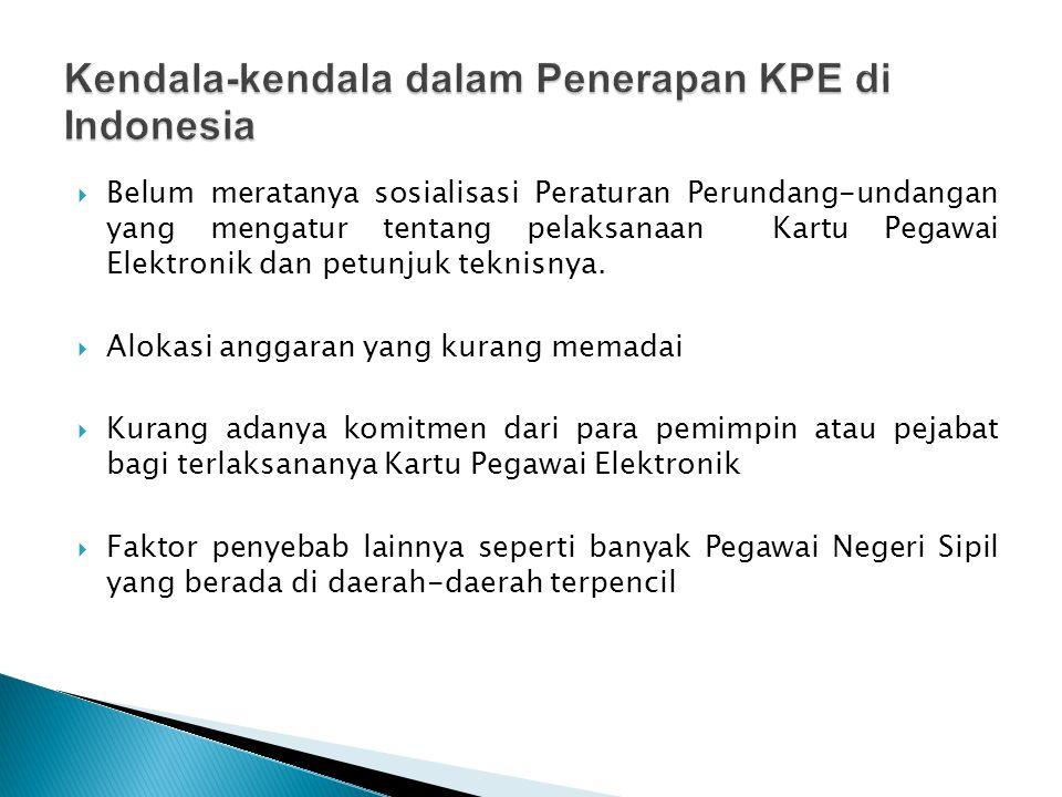  Program pembuatan kartu elektronik untuk PNS ini disambut baik oleh perbankan.