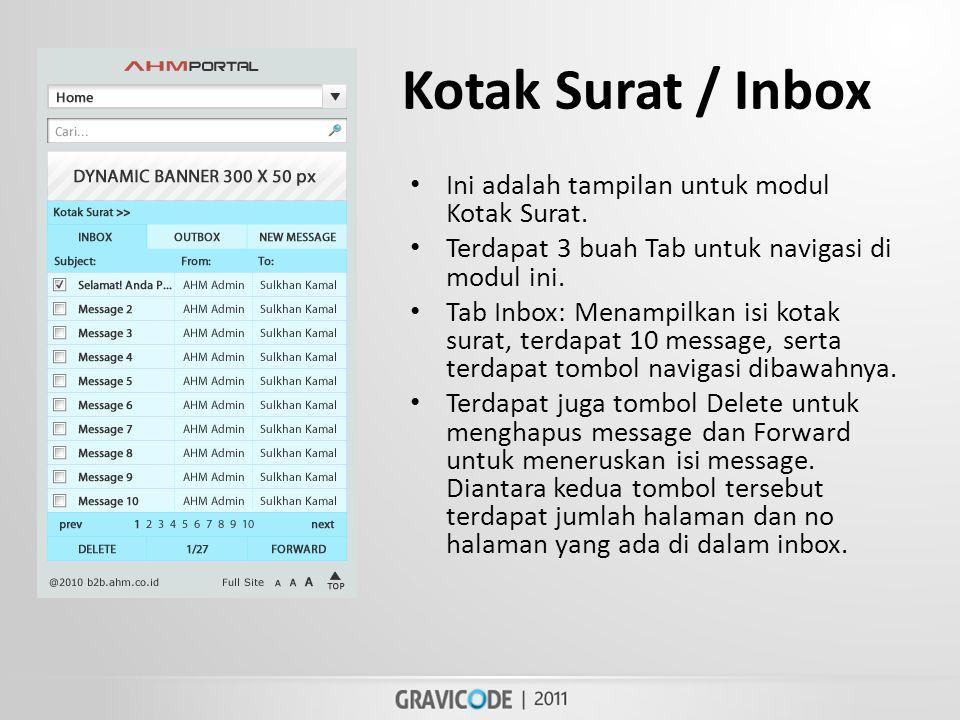 Kotak Surat / Inbox • Ini adalah tampilan untuk modul Kotak Surat.