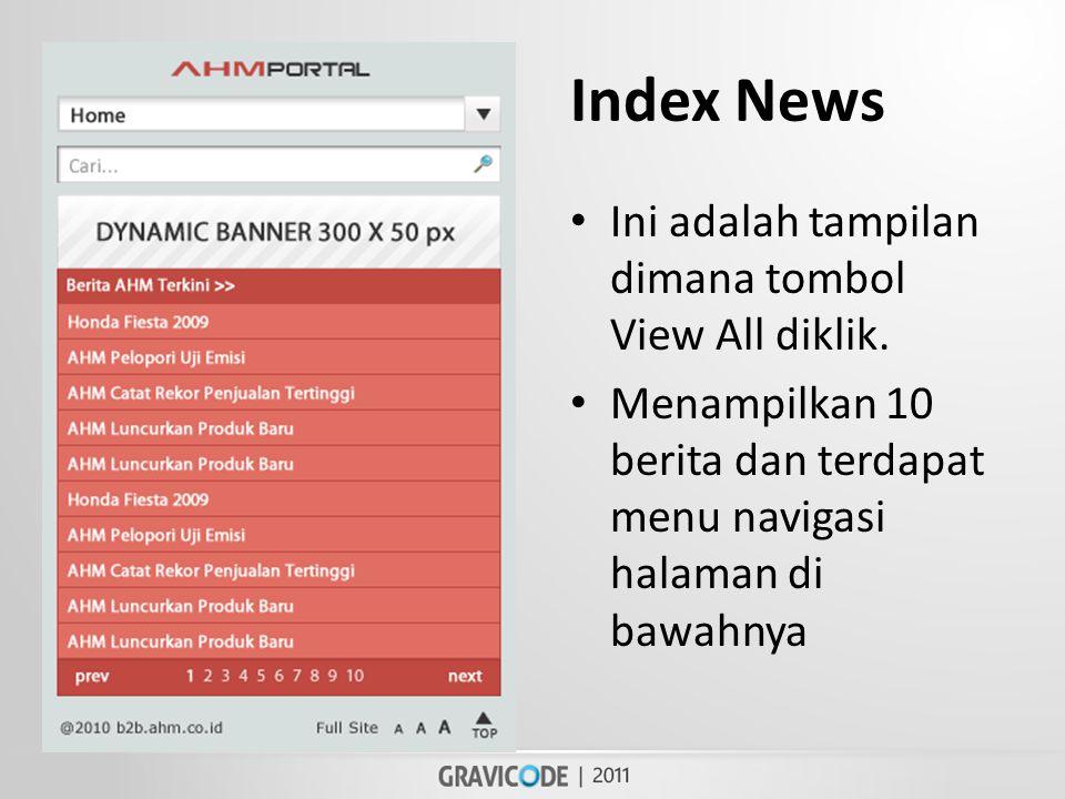 Index News • Ini adalah tampilan dimana tombol View All diklik.