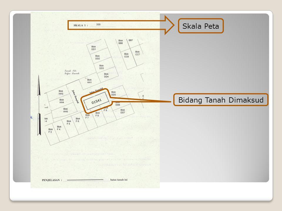 Skala Peta 01541 Bidang Tanah Dimaksud
