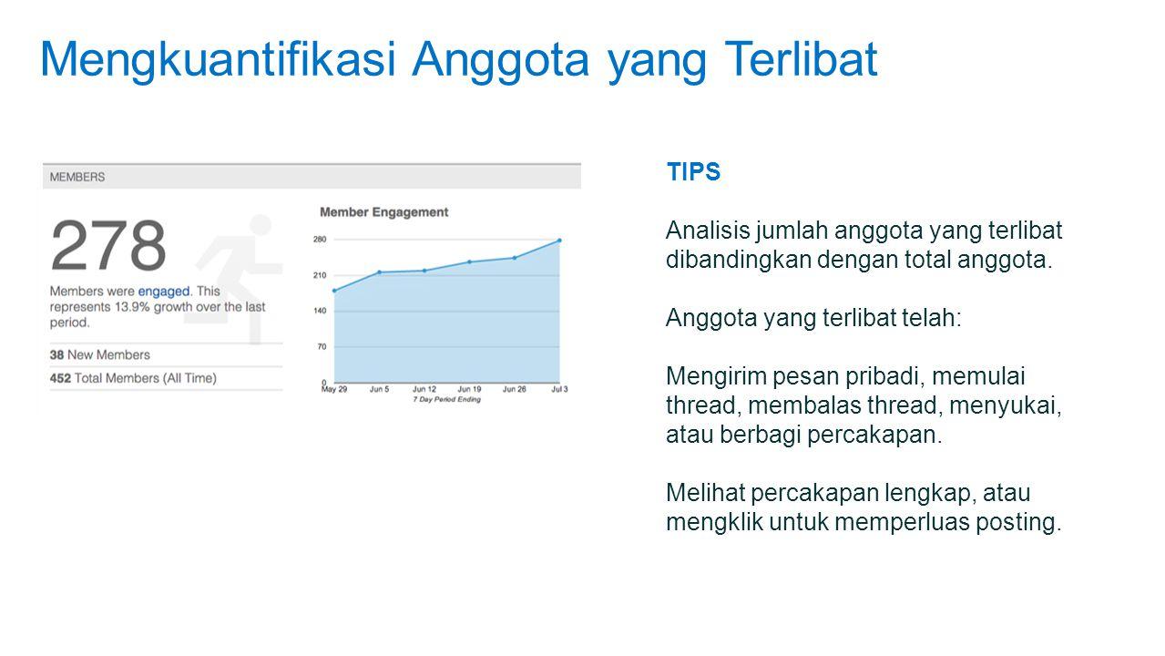 Mengkuantifikasi Anggota yang Terlibat TIPS Analisis jumlah anggota yang terlibat dibandingkan dengan total anggota.