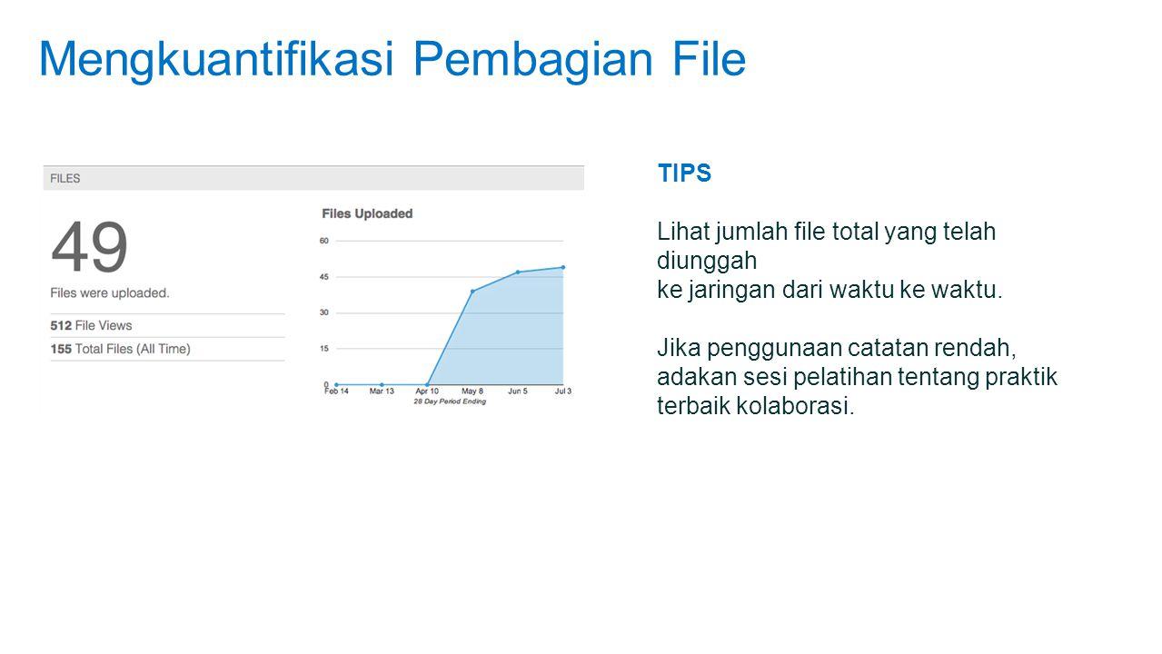 Mengkuantifikasi Pembagian File TIPS Lihat jumlah file total yang telah diunggah ke jaringan dari waktu ke waktu.